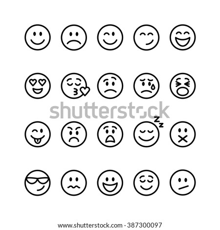 Smiley stock photos images pictures shutterstock - Smiley noir et blanc ...