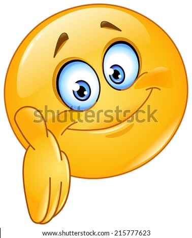 Emoticon giving a hand - stock vector
