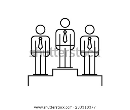 employee of the month winner first place pictogram vector icon - stock vector