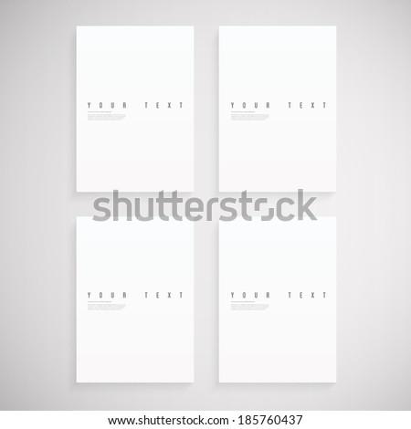 Empty A4 / A3 format paper set  Eps 10 stock vector illustration  - stock vector