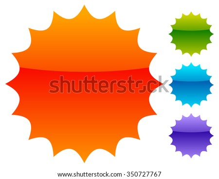 Empty badge, price flash. Vector illustration. - stock vector