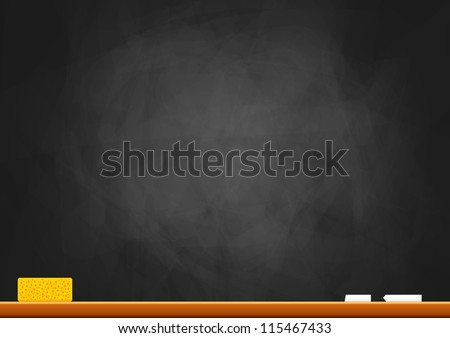 Empty blackboard - stock vector