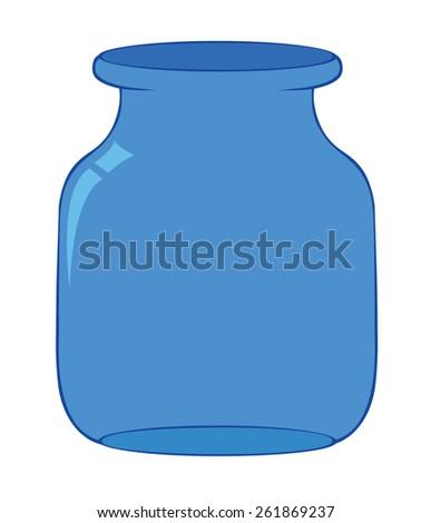 empty bottle - stock vector