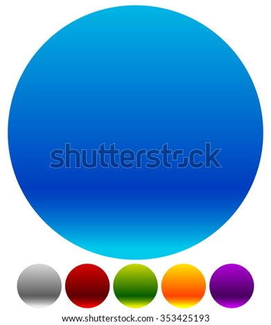 Empty colorful circle shapes, circle elements, vector eps 10. - stock vector