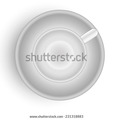 empty cup isolated - stock vector