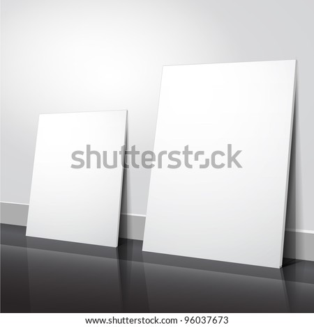 Empty flyer design, vector - stock vector