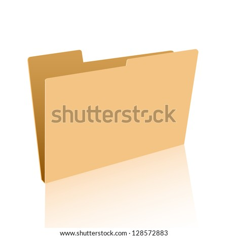 empty folder to place your concept - stock vector