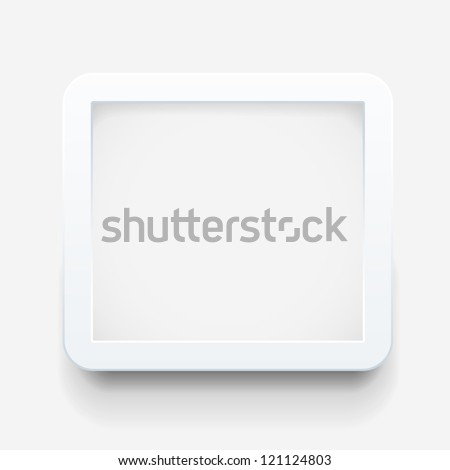 Empty frame on the wall - stock vector