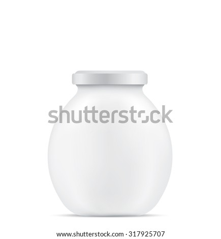 Empty glass jar - stock vector