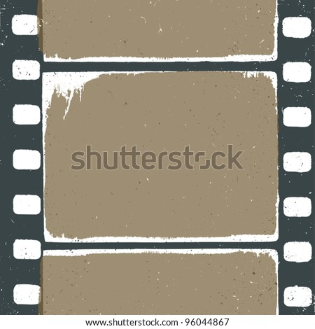 Empty grunge film strip design, may use as a background or overlays. - stock vector