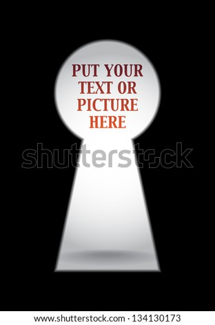 Empty keyhole ready for your content - stock vector