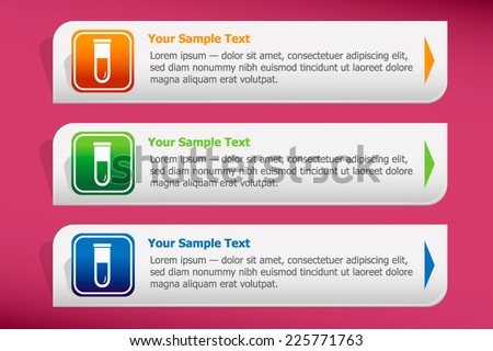 Empty laboratory test tube and design template vector. Graphic or website. - stock vector