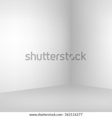 Empty light interior. Vector illustration.  - stock vector
