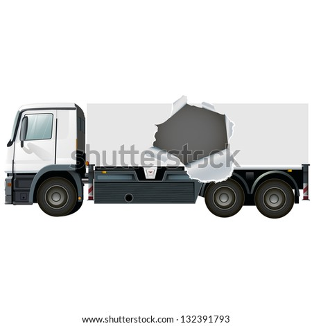 empty lorry or truck to place your name or concept - stock vector