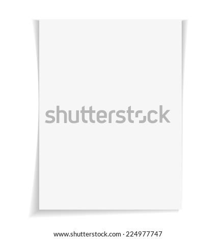 Empty paper sheet. Vector - stock vector