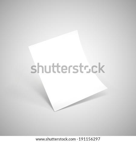 Empty paper sheet. Vector Illustration EPS10. - stock vector