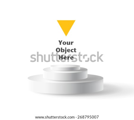 Empty pedestal for put an object - stock vector