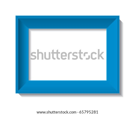 empty photo frame - vector - stock vector