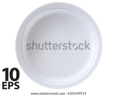 Empty plate isolated. Vector 3D illustration - stock vector