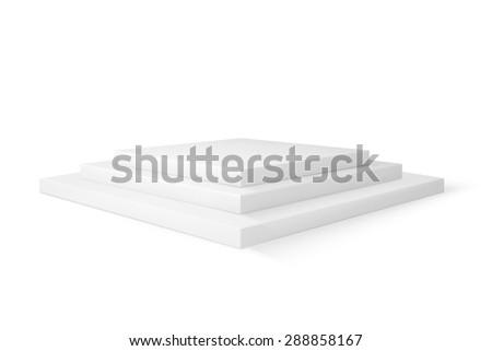 Empty platorm scence studio vector isolated on white background - stock vector