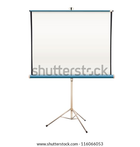 Empty projector screen. Isolated vector design. - stock vector