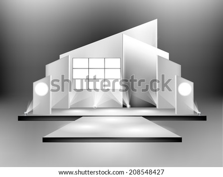 empty  runway , stage show illustration. - stock vector