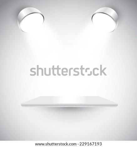 Empty shelf, vector - stock vector