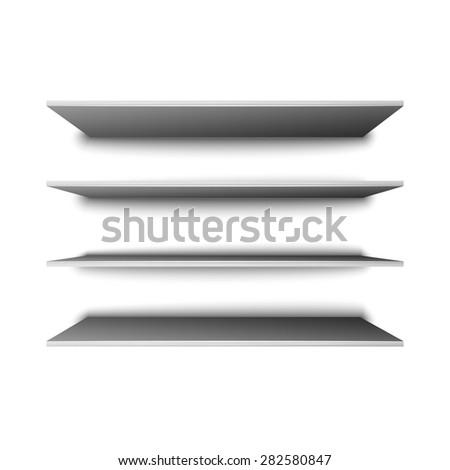 Empty shelves for presentation, excellent vector illustration, EPS 10 - stock vector