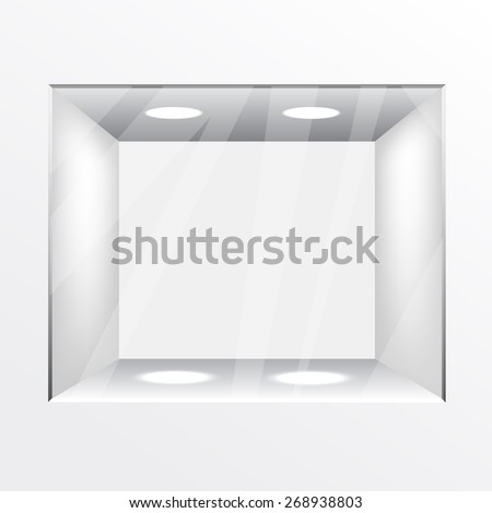 Empty Shop - stock vector