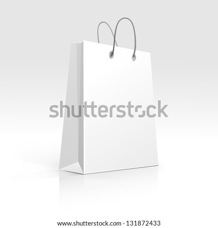 Empty Shopping Bag on White Background - stock vector