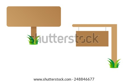 empty sign isolated - stock vector