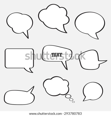 Empty speech bubbles for text communication. Vector image of the  eps 10. - stock vector