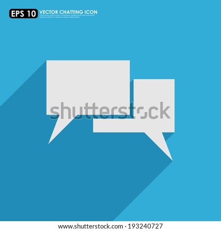 Empty speech or comment bubbles on blue background - stock vector