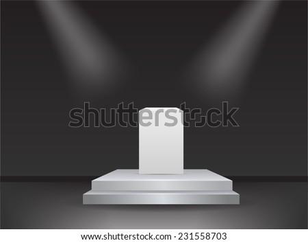 Empty stage studio vector - stock vector