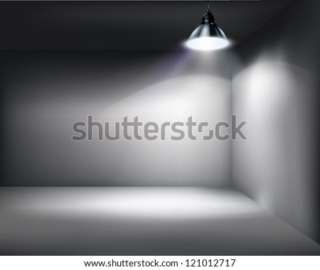 Empty store. Vector illustration. - stock vector