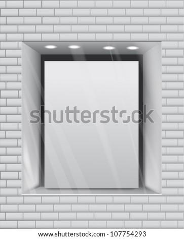 Empty storefront eps10 vector background - stock vector