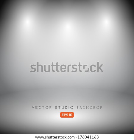 Empty Studio Backdrop in Vector EPS 10 - stock vector