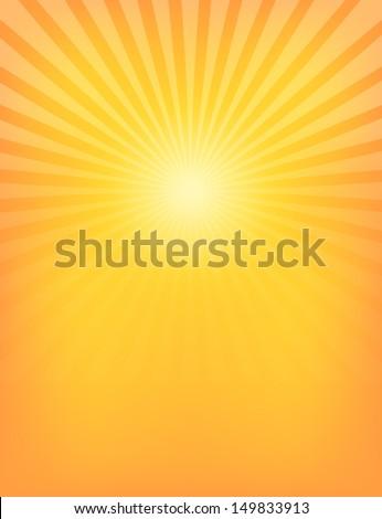 Empty Sun Sunburst Pattern. Vector illustration - stock vector