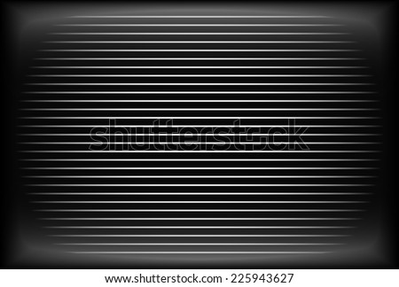 Empty television or monitor screen for no transmission, bad antennae, lost connection concepts - stock vector