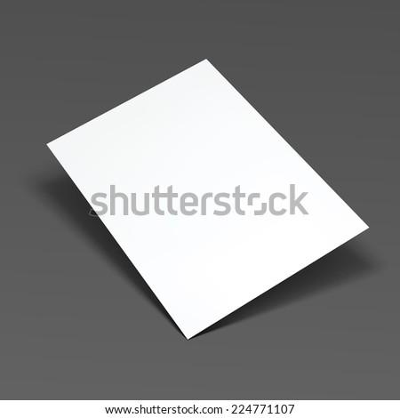 Empty white paper sheet. Vector Illustration EPS10. - stock vector