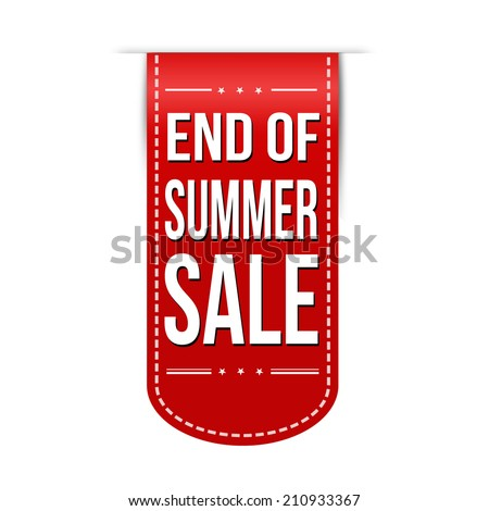 End of summer sale banner design over a white background, vector illustration - stock vector