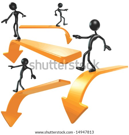 End Of the Line Arrows - stock vector