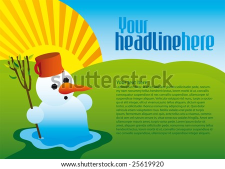 End of winter - stock vector