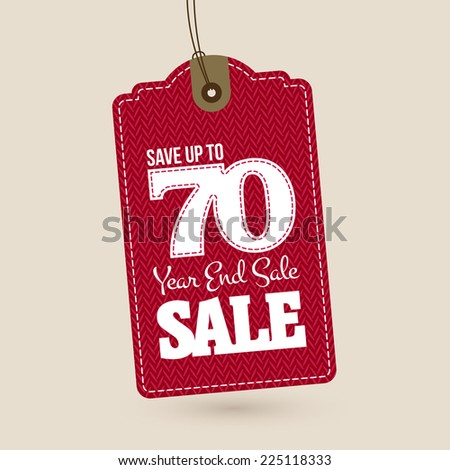 End of year sale tag - stock vector