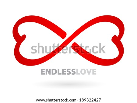 Endless love infinity symbol. - stock vector
