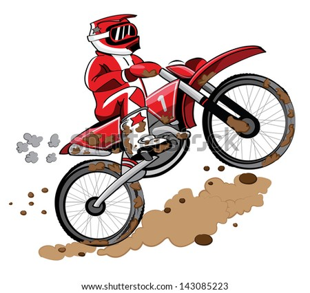 Enduro Biker - stock vector