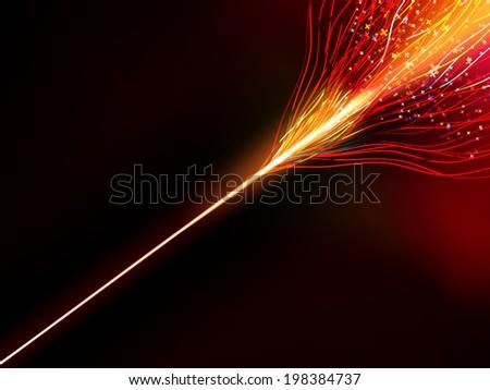 Energy design against dark background. EPS 10 vector file included - stock vector