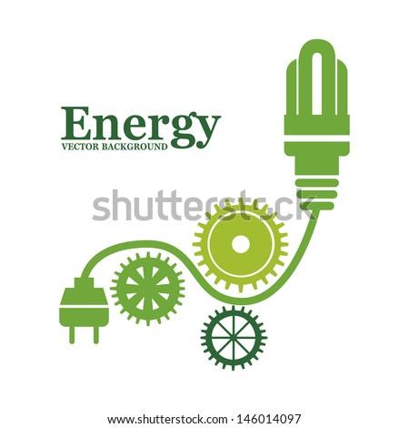 energy design over white background vector illustration  - stock vector