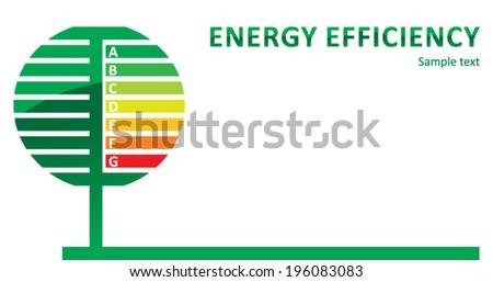 Energy efficiency - stock vector