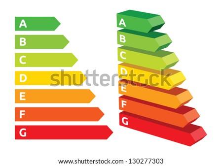 Energy efficiency rating - stock vector